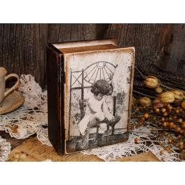 Cutie de lemn tip Carte