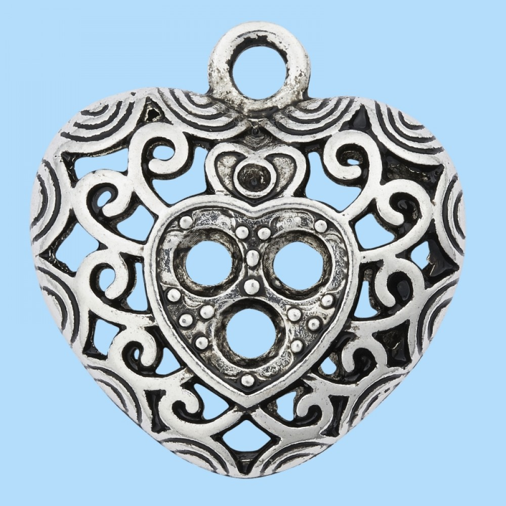 Pandantiv Metalic Inima