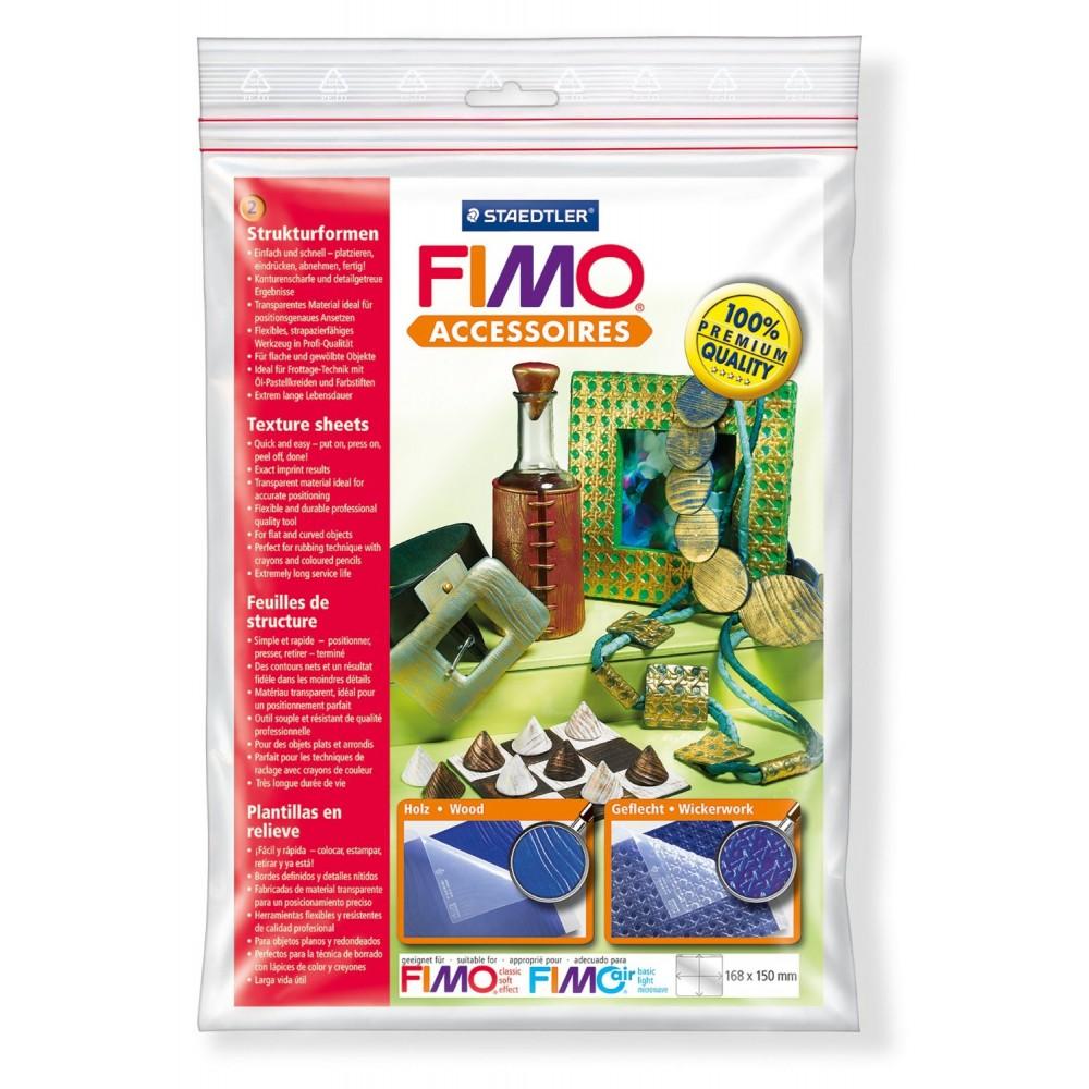 FIMO® Accessories - Folie de texturare - Lemn/ Împletituri