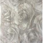 Servetel Decorativ trandafiri gri